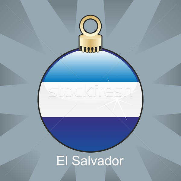 isolated el salvador flag in christmas bulb shape Stock photo © PilgrimArtworks