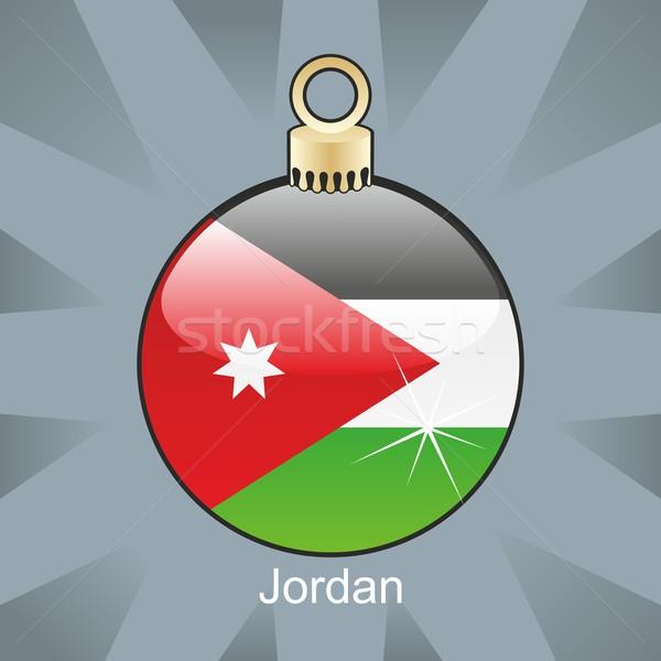 Odizolowany Jordania banderą christmas żarówki Zdjęcia stock © PilgrimArtworks