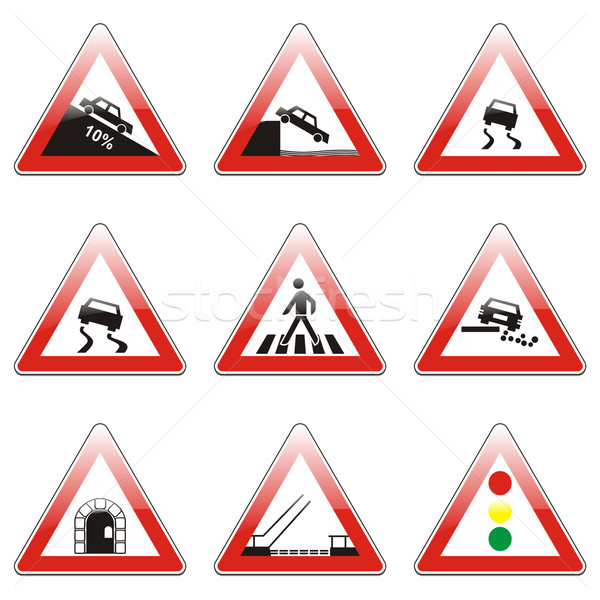 european traffic signs Stock photo © PilgrimArtworks