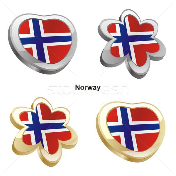 ノルウェー フラグ 中心 花 ストックフォト © PilgrimArtworks