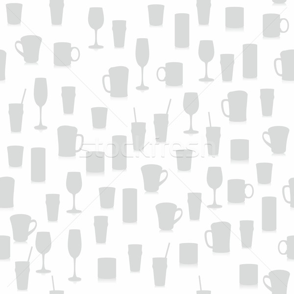 seamless pattern with different glasses Stock photo © PilgrimArtworks