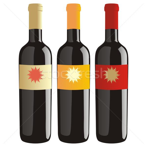 Klassiek vorm wijn flessen partij achtergrond Stockfoto © PilgrimArtworks