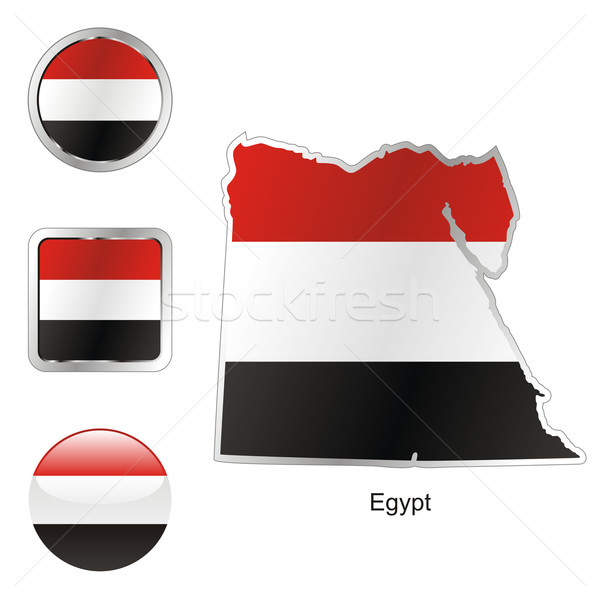 egypt in map and internet buttons shape Stock photo © PilgrimArtworks