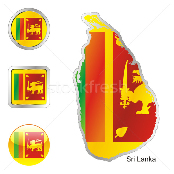 sri lanka in map and internet buttons shape Stock photo © PilgrimArtworks