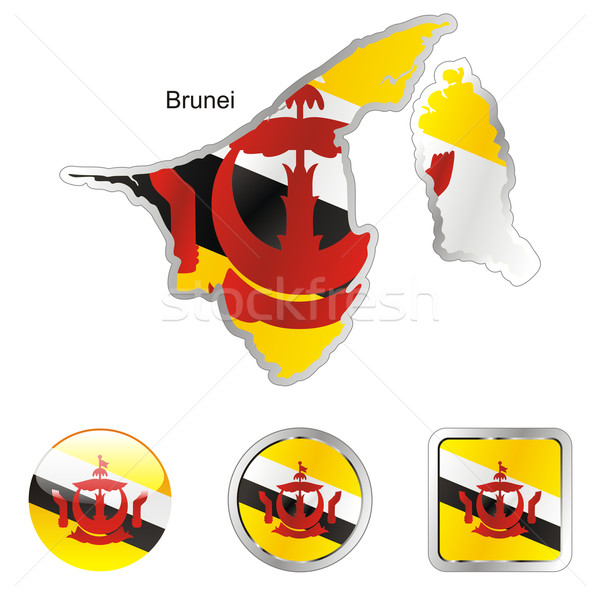 brunei in map and internet buttons shape Stock photo © PilgrimArtworks
