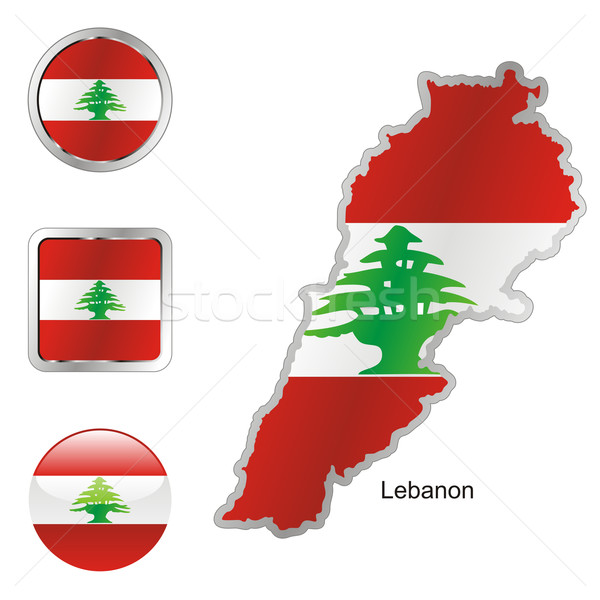 lebanon in map and internet buttons shape Stock photo © PilgrimArtworks