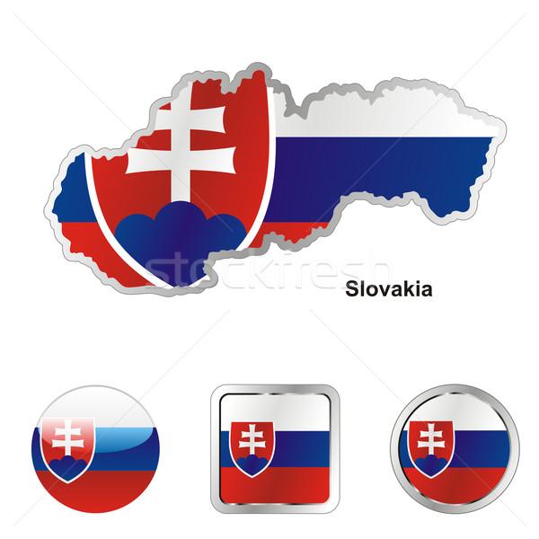 Slovaquie carte web boutons Photo stock © PilgrimArtworks