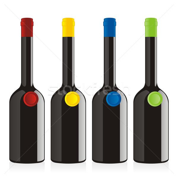 Сток-фото: изолированный · бальзамического · уксуса · бутылок · набор · искусства