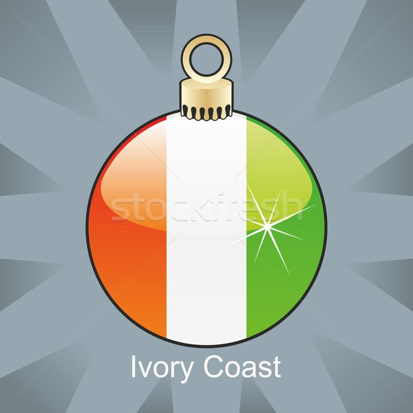 Izolált Elefántcsontpart zászló karácsony villanykörte forma Stock fotó © PilgrimArtworks