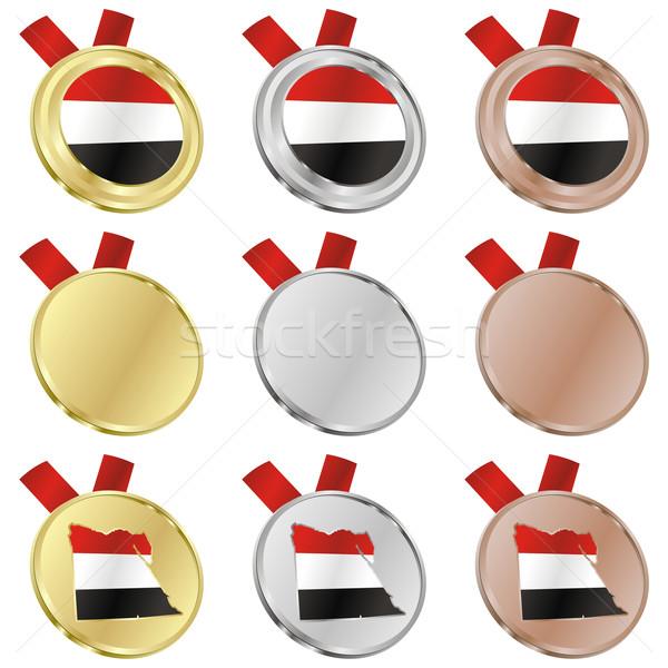 Egypte vector vlag medaille Stockfoto © PilgrimArtworks