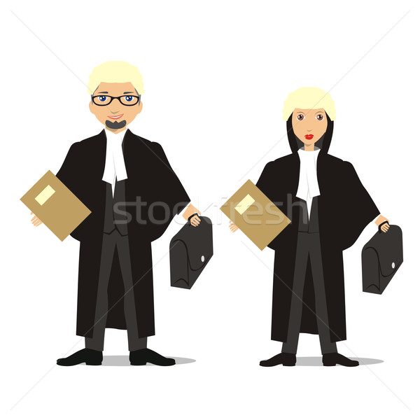 barrister couple Stock photo © PilgrimArtworks