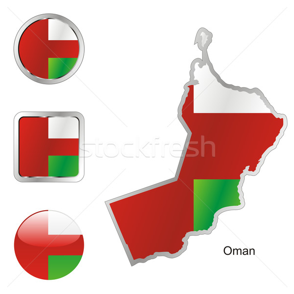 oman in map and internet buttons shape Stock photo © PilgrimArtworks