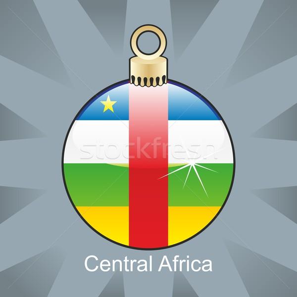 Odizolowany centralny Afryki banderą christmas żarówki Zdjęcia stock © PilgrimArtworks