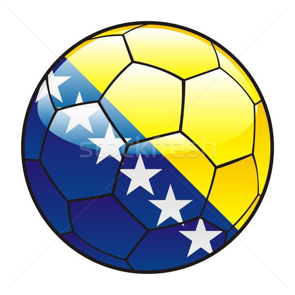 Bosnië-Herzegovina vlag voetbal voetbal sport voetbal Stockfoto © PilgrimArtworks