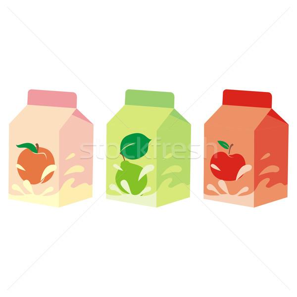 Yalıtılmış meyve yoğurt kutuları düzenlenebilir Stok fotoğraf © PilgrimArtworks