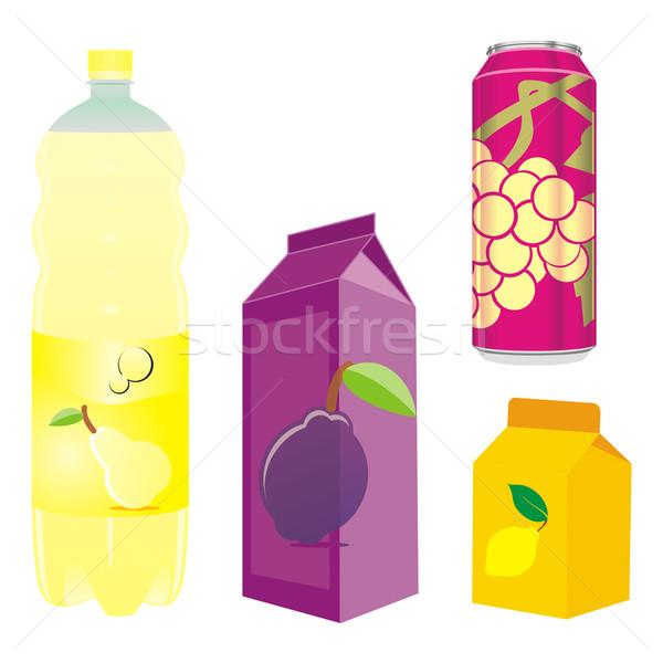 Isolé fruits boîte bouteille Photo stock © PilgrimArtworks