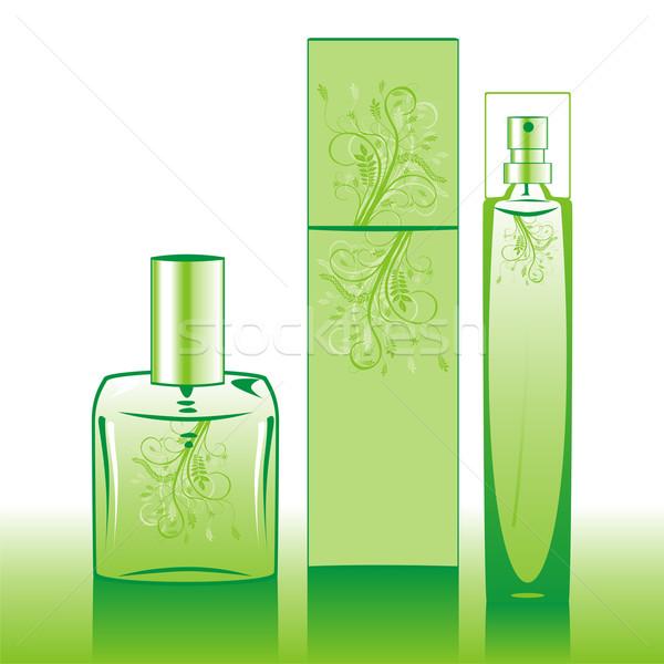 孤立した 香水 ボトル 緑 ファッション ストックフォト © PilgrimArtworks