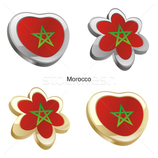 モロッコ フラグ 中心 花 ストックフォト © PilgrimArtworks