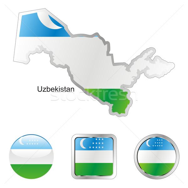 Uzbekistan hartă butoane de internet pavilion Imagine de stoc © PilgrimArtworks