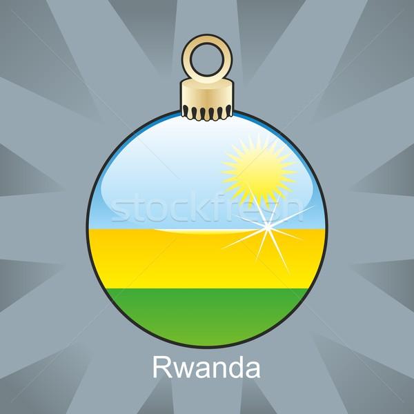 изолированный Руанда флаг Рождества лампа форма Сток-фото © PilgrimArtworks