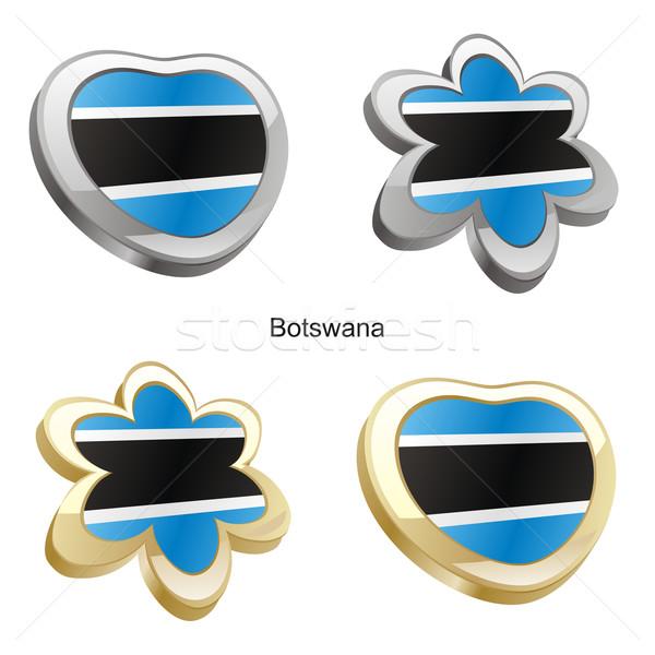 Botswana pavillon coeur fleur forme Photo stock © PilgrimArtworks