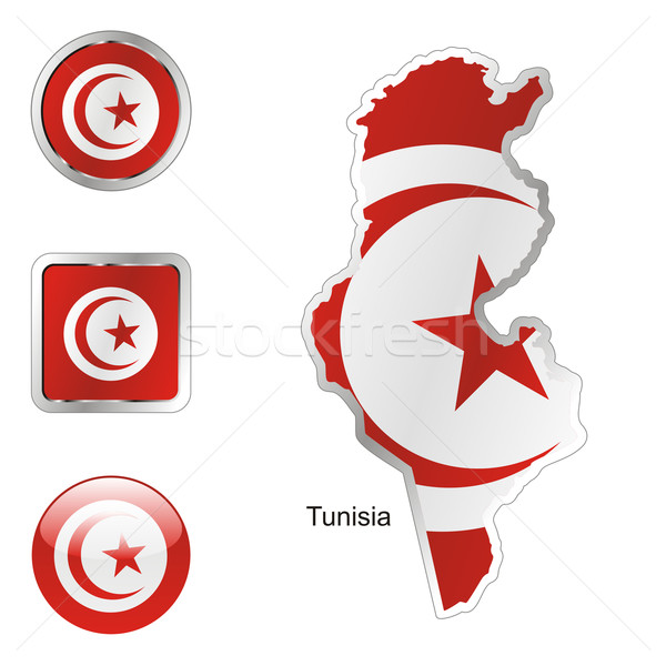 tunisia in map and web buttons shapes Stock photo © PilgrimArtworks