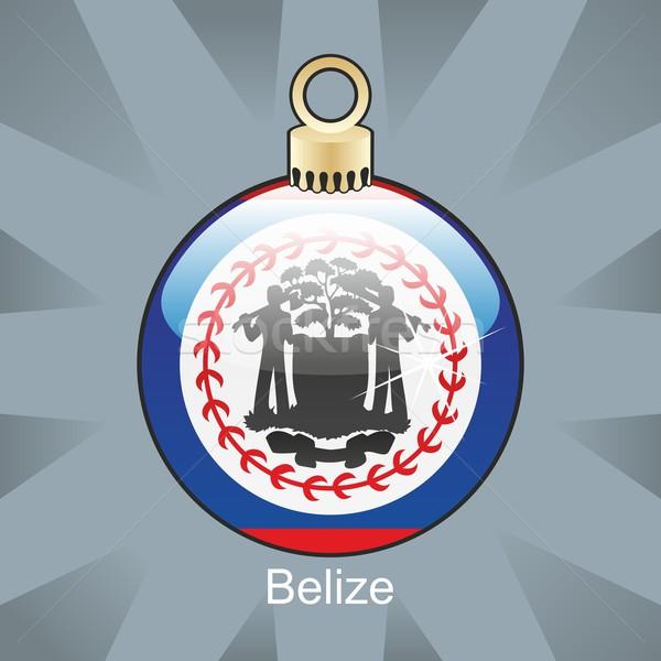 Belize zászló karácsony villanykörte forma szerkeszthető Stock fotó © PilgrimArtworks