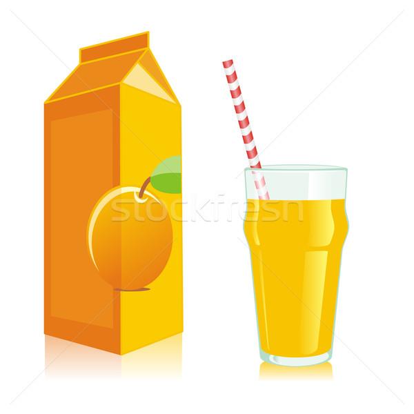Izolált narancslé üveg üveg szerkeszthető doboz Stock fotó © PilgrimArtworks