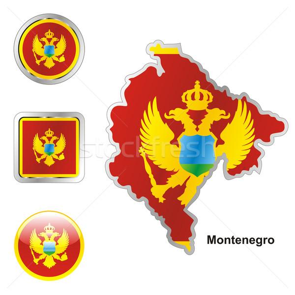 Montenegro kaart web knoppen Stockfoto © PilgrimArtworks