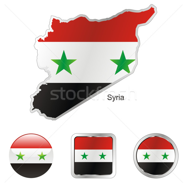 syria in map and internet buttons shape Stock photo © PilgrimArtworks