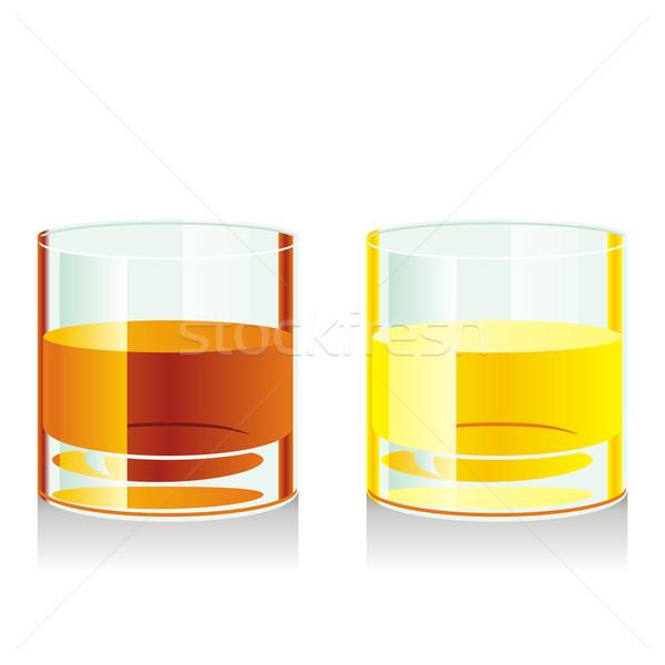 Aislado whisky gafas cerveza cocina Foto stock © PilgrimArtworks