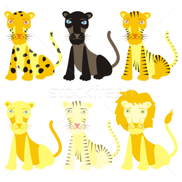 vector felines ready to use Stock photo © PilgrimArtworks