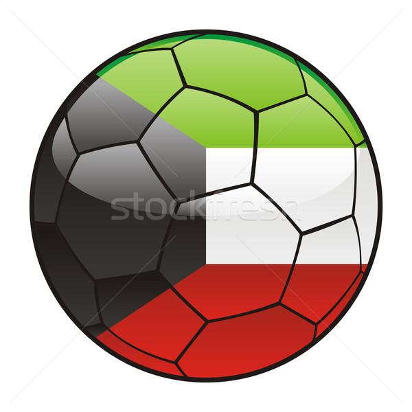 Foto d'archivio: Kuwait · bandiera · soccer · ball · sport · calcio