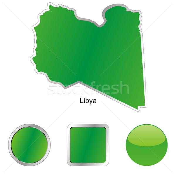 Photo stock: Libye · carte · web · boutons