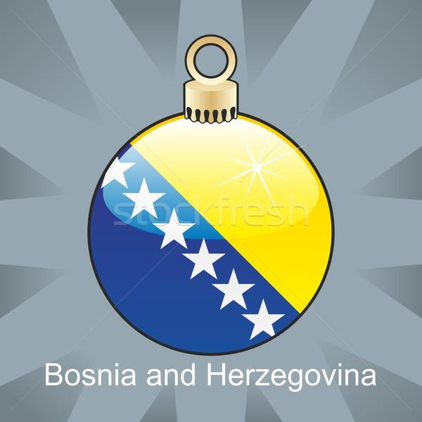 Bosnia Herzegovina bandera Navidad bombilla forma Foto stock © PilgrimArtworks