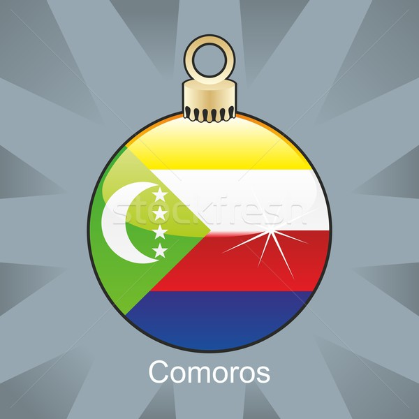isolated comoros flag in christmas bulb shape Stock photo © PilgrimArtworks