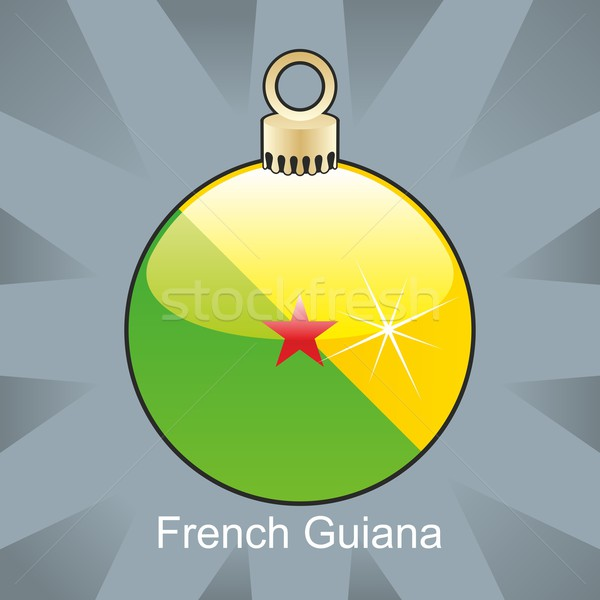 Izolált francia zászló karácsony villanykörte forma Stock fotó © PilgrimArtworks