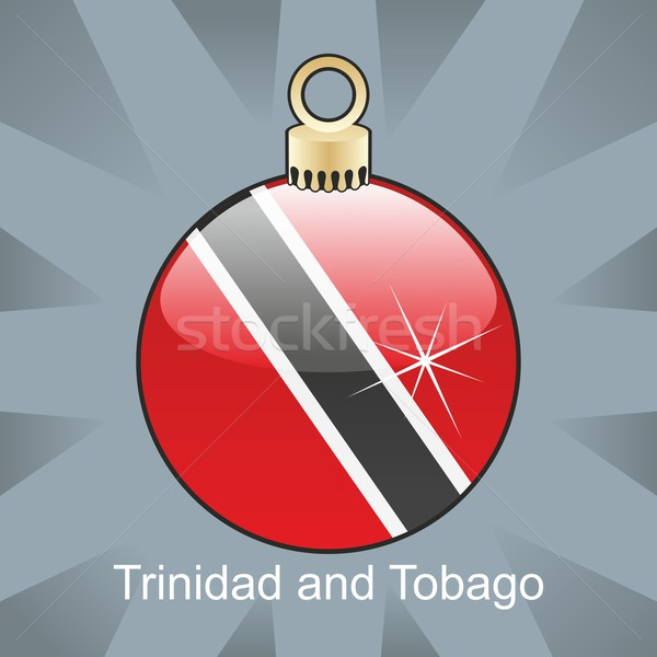 isolated trinidad and tobago flag in christmas bulb shape Stock photo © PilgrimArtworks