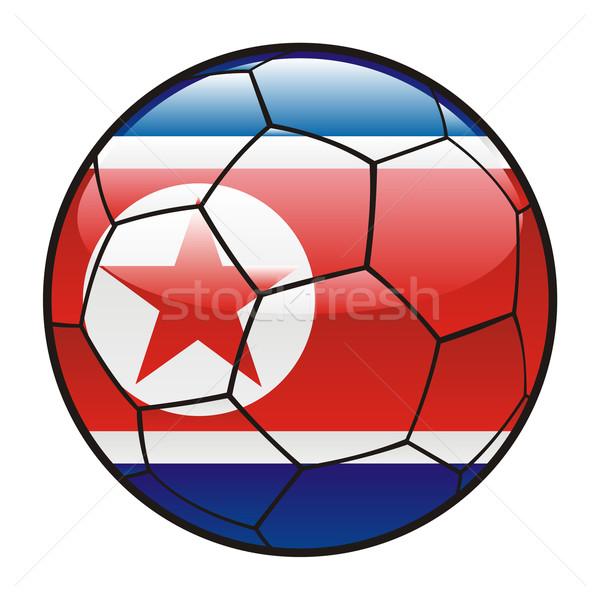 North Korea flag on soccer ball Stock photo © PilgrimArtworks