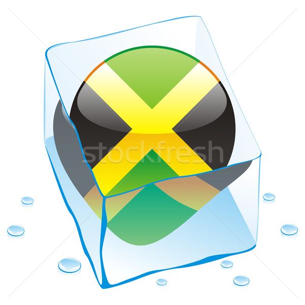 Ямайка кнопки флаг заморожены Ice Cube Сток-фото © PilgrimArtworks