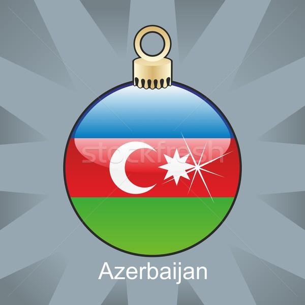 Azerbaiyán bandera Navidad bombilla forma Foto stock © PilgrimArtworks