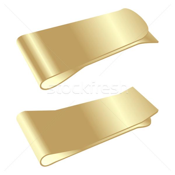 Stockfoto: Geïsoleerd · gouden · geld · clip