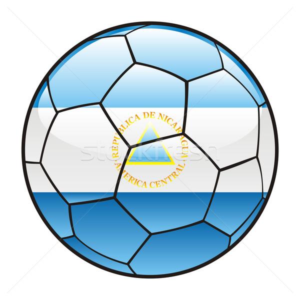 Nicaragua bandera balón de fútbol fútbol deporte fútbol Foto stock © PilgrimArtworks