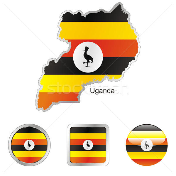 uganda in map and internet buttons shape Stock photo © PilgrimArtworks