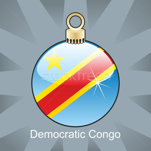 isolated democratic congo flag in christmas bulb shape Stock photo © PilgrimArtworks