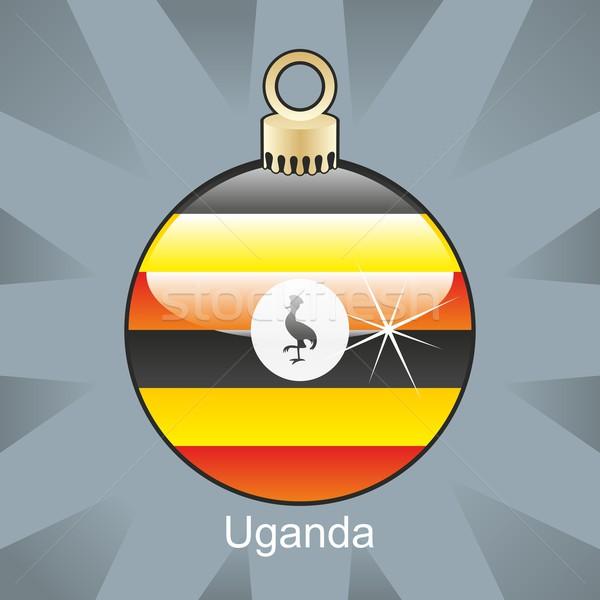 孤立した ウガンダ フラグ クリスマス 電球 ストックフォト © PilgrimArtworks