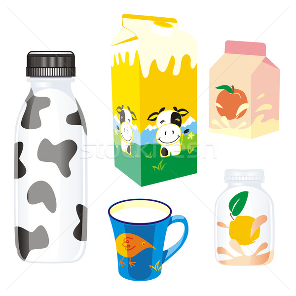 isolated dairy products Stock photo © PilgrimArtworks