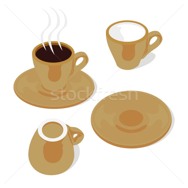 espresso cups and saucers Stock photo © PilgrimArtworks