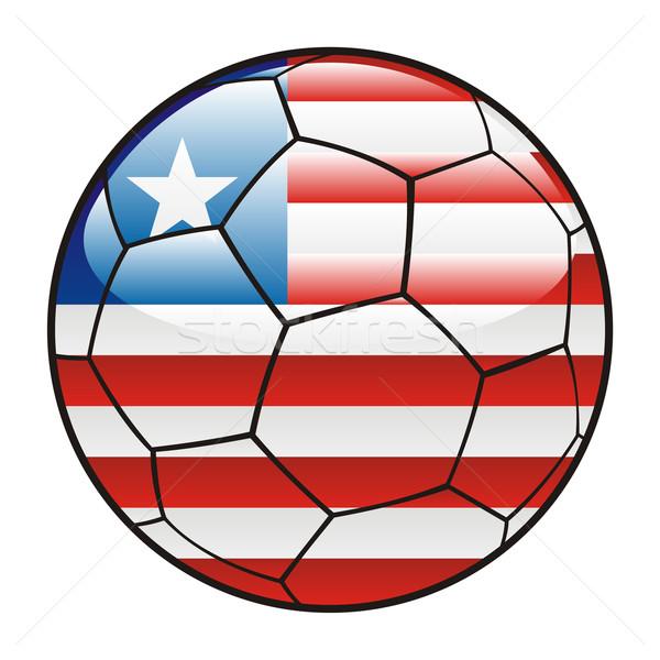 Libéria bandeira futebol futebol esportes futebol Foto stock © PilgrimArtworks