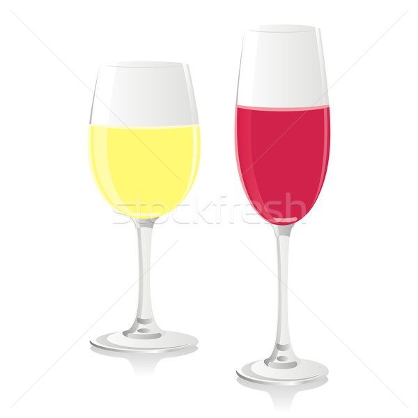 isolated champagne and wine glasses Stock photo © PilgrimArtworks